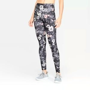 Women's Floral Print High-Waisted Leggings